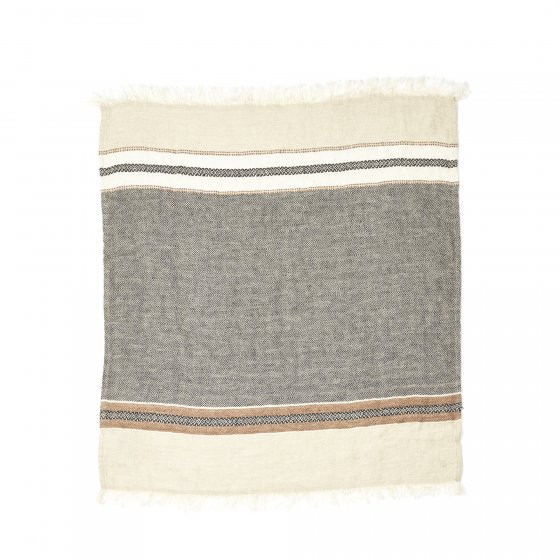 The Belgian Towel Fouta Beeswax stripe 110x180cm
